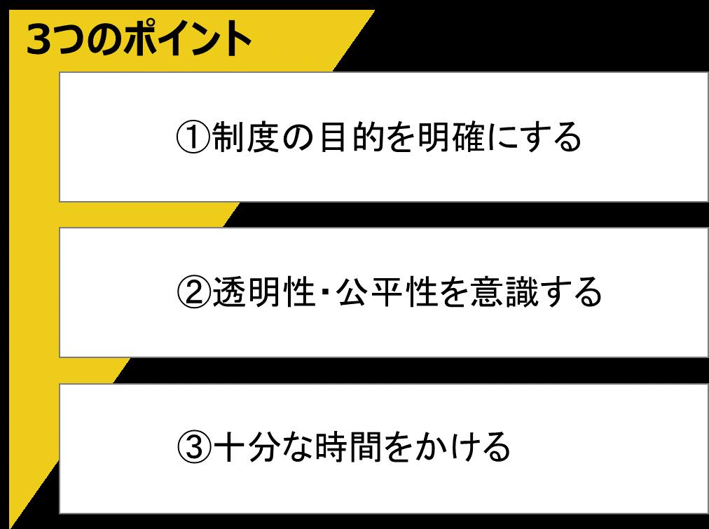 人事制度3つのポイント